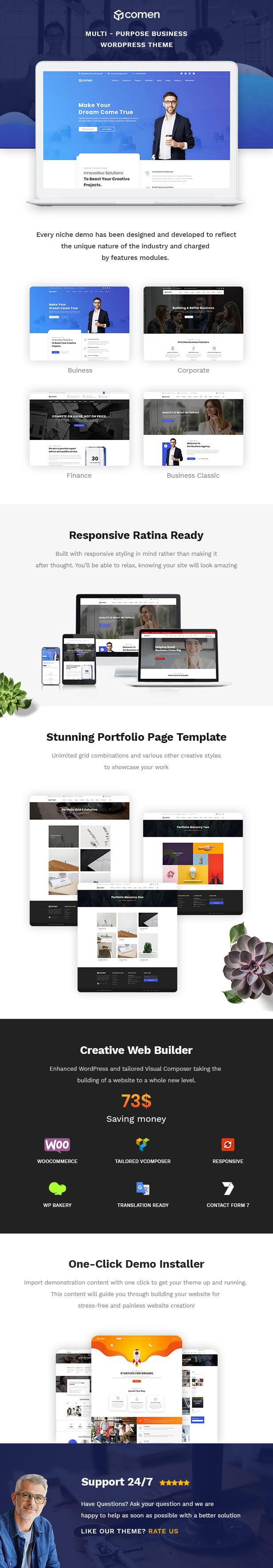 Comen | Multi-purpose Business WordPress Theme - 1