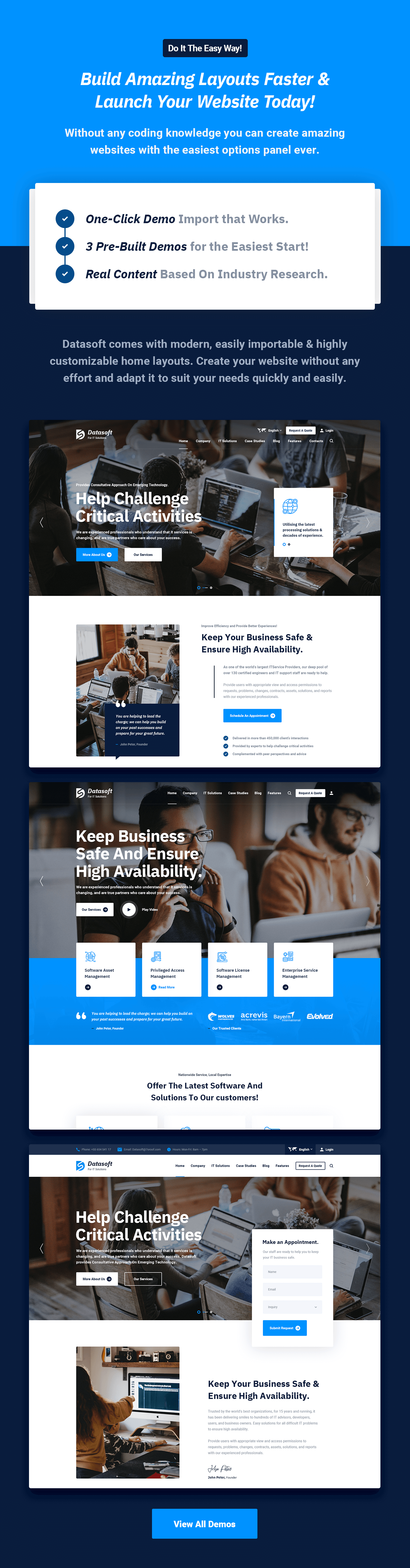 Datasoft - IT Solutions & Services WordPress Theme - 6