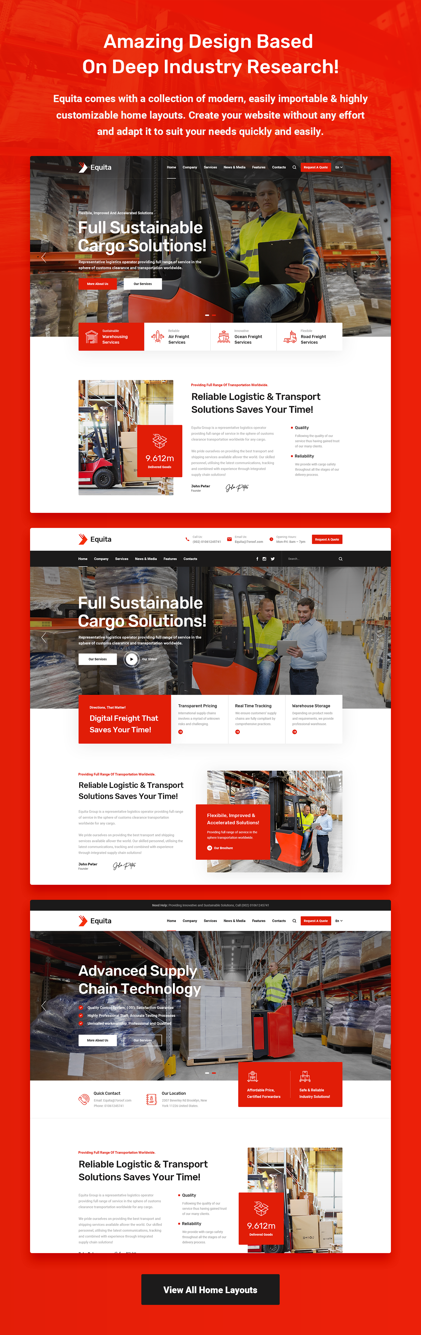 Equita - Logistics Cargo WordPress Theme - 6