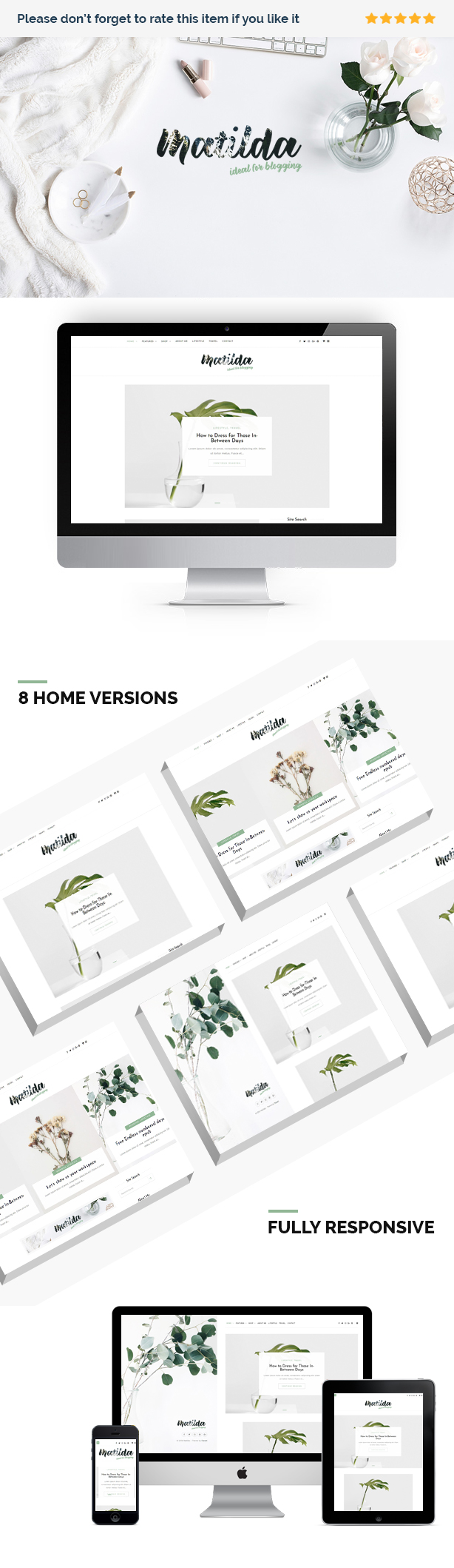 Matilda | Lifestyle Minimal WordPress Blog Theme