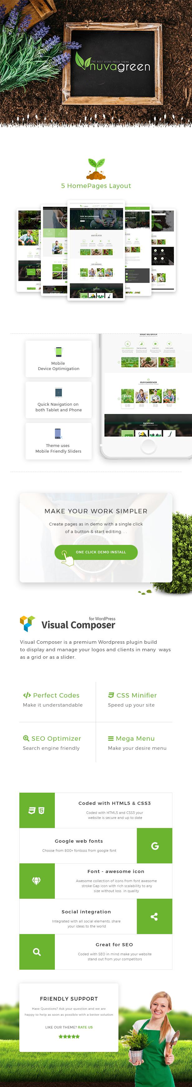 NuvaGreen - Landscape & Gardening WordPress Theme - 1
