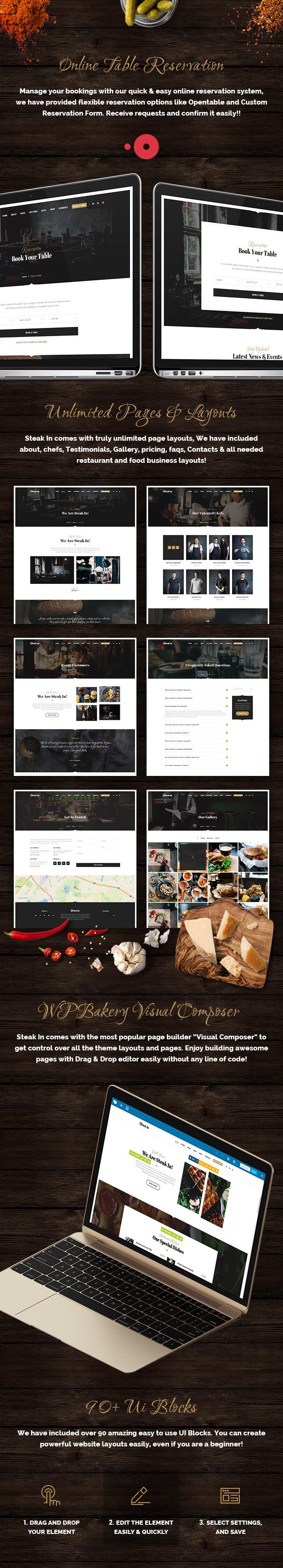 Steak In - Restaurant & Cafe WordPress Theme - 4