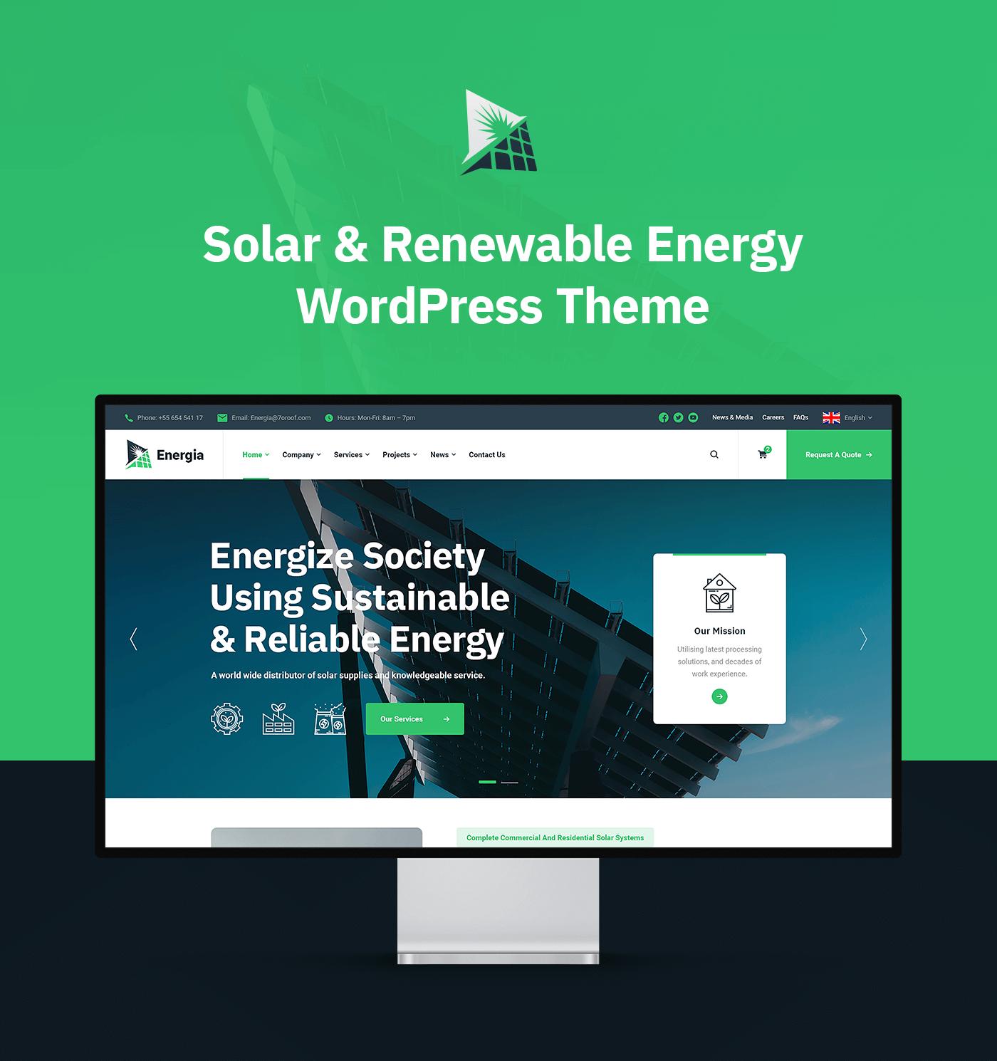 Energia - Renewable Energy WordPress Theme - 5