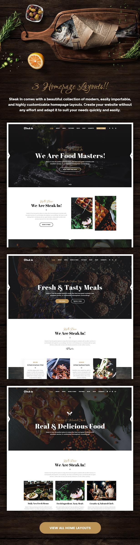 Steak In - Restaurant & Cafe WordPress Theme - 2