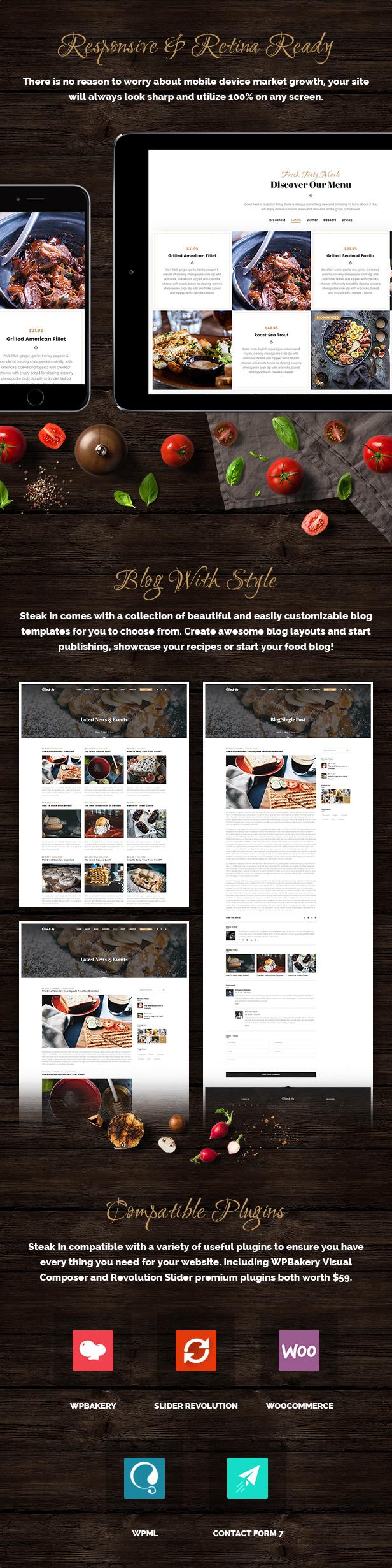 Steak In - Restaurant & Cafe WordPress Theme - 6